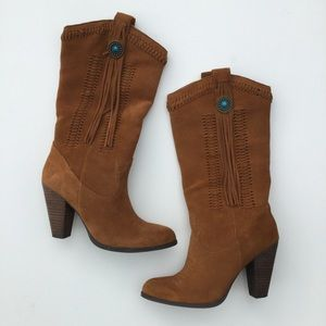 Reba Hades Western Leather Boots Brown 6.5